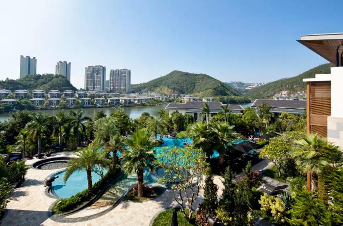 <人均¥390>花都木莲庄酒店2天1晚套票 早餐+下午茶+晚餐+泳池+水上活动